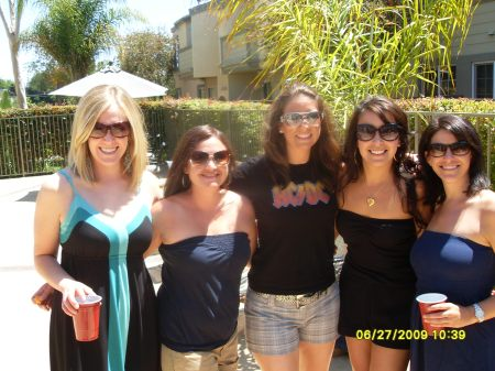 My BFFs: (L to R) Colleen, Laura, me, Teresa & Price