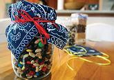 Hostess gift using trail mix